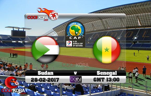 مشاهدة مباراة السودان والسنغال اليوم 27-2-2017 كأس أفريقيا للشباب تحت 20 سنة