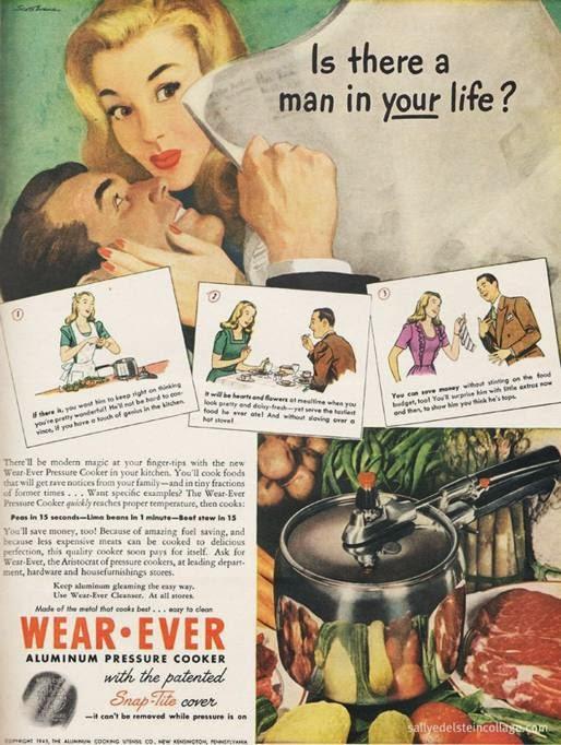 """""""C è un uomo nella tua vita """" Donne ricordate  con la pentola a pressione  tenersi un uomo è facile quanto cucinare. e894b19c993"""