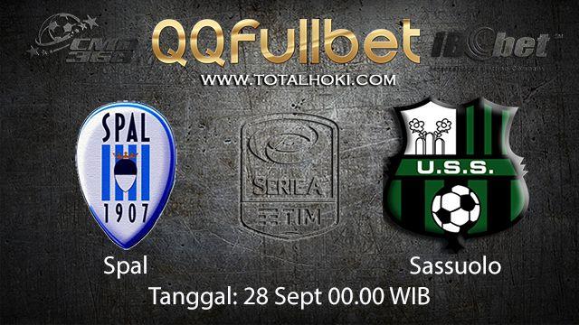 Prediksi Bola Jitu Spal vs Sassuolo 28 September 2018 ( Italian Serie A )