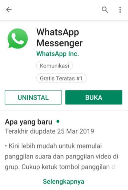 Reinstall WhatsApp