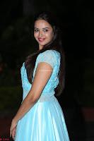 Pujita Ponnada in transparent sky blue dress at Darshakudu pre release ~  Exclusive Celebrities Galleries 089.JPG