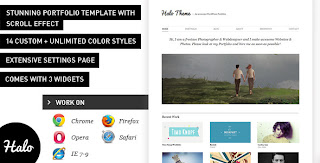 Halo: Stunning WordPress Portfolio Theme
