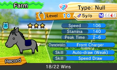 Pocket Card Jockey Type: Null horse statistics farm