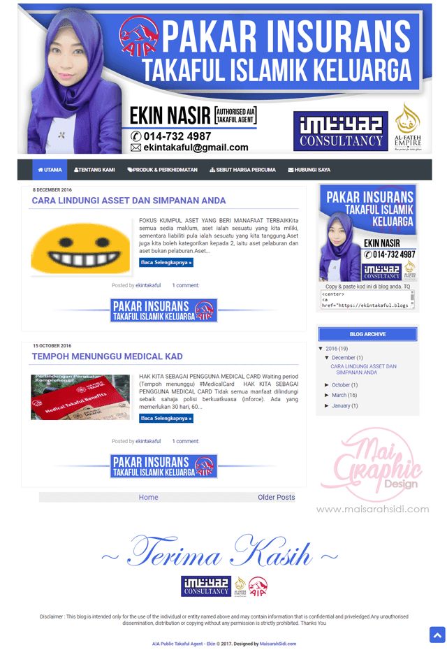 design template blog takaful