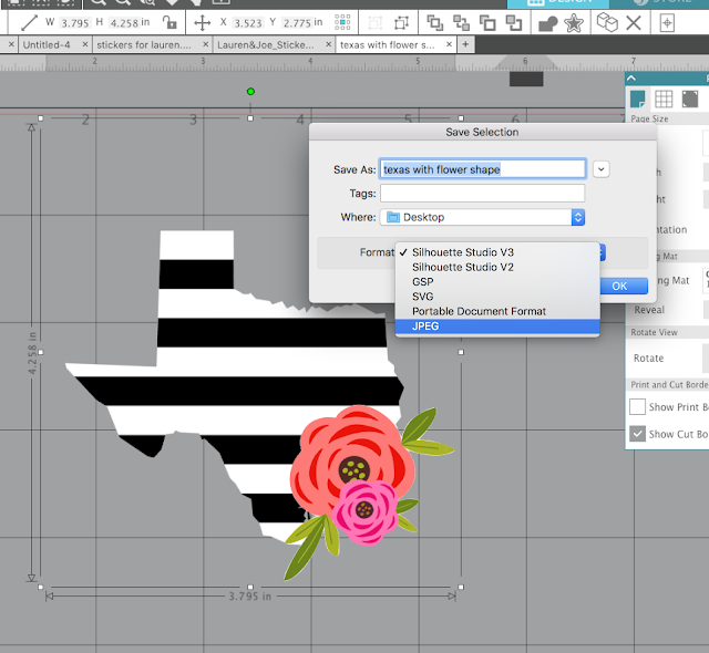 silhouette cameo tutorial, silhouette cameo tutorial for beginners, silhouette cameo tutorial, save as jpeg silhouette studio, save as svg silhouette studio