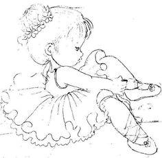 bailarina para pintura em tecidos