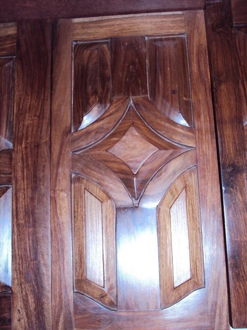 Wood Design Ideas: New kerala style Front Door wooden door ...