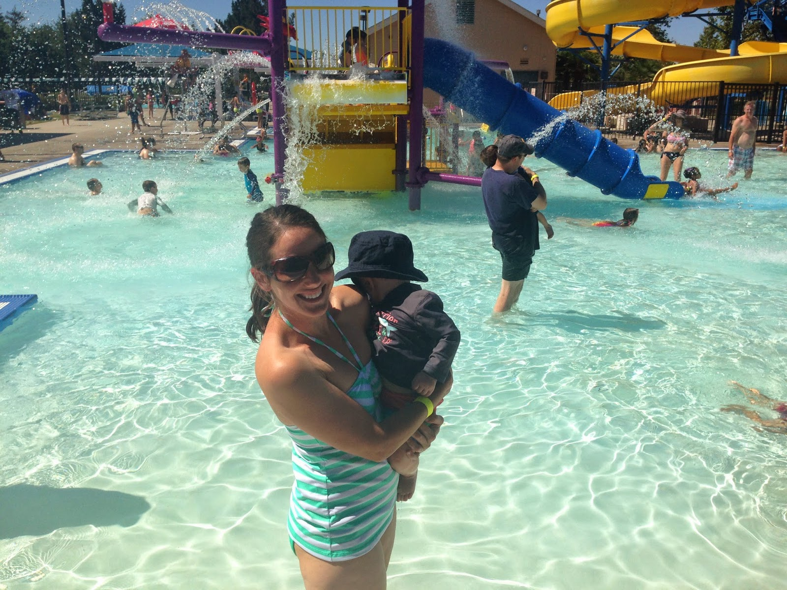 He Was In Awe Of All The Kids And Toddlers Running Through The Shallow  Water And Playing On The Pool Playground. In Fact, This Was One Of The Only  Times In ...