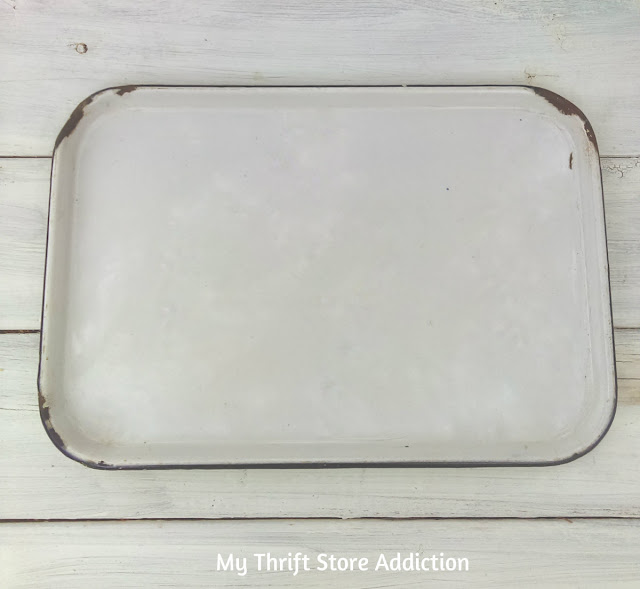 vintage enamelware tray