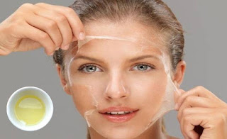 Egg white for acne scars on face