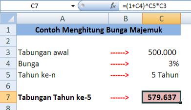 Cara Menghitung Bunga Majemuk Dengan Rumus Dalam Microsoft Excel Adhe Pradiptha