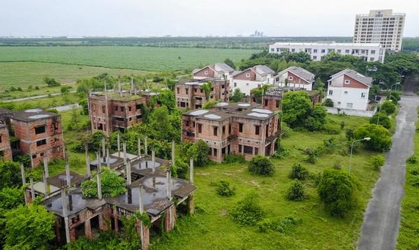 Khu đô thị bỏ hoang xanh cỏ ở Đồng Nai