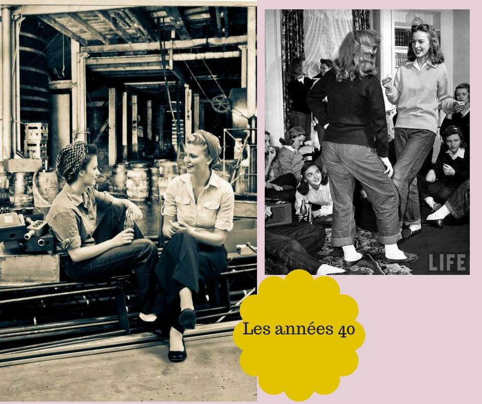 La mode des jeans levis dans les années 40