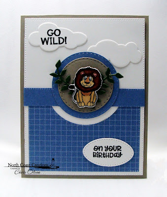 North Coast Creations Stamps & Dies: Go Wild, ODBD Custom Dies: Lovely Leaves, Double Stitched Circles, Pierced Ovals, Pierced Rectangles