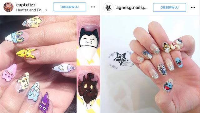 paznokcie z pokemonami zdjęcia
