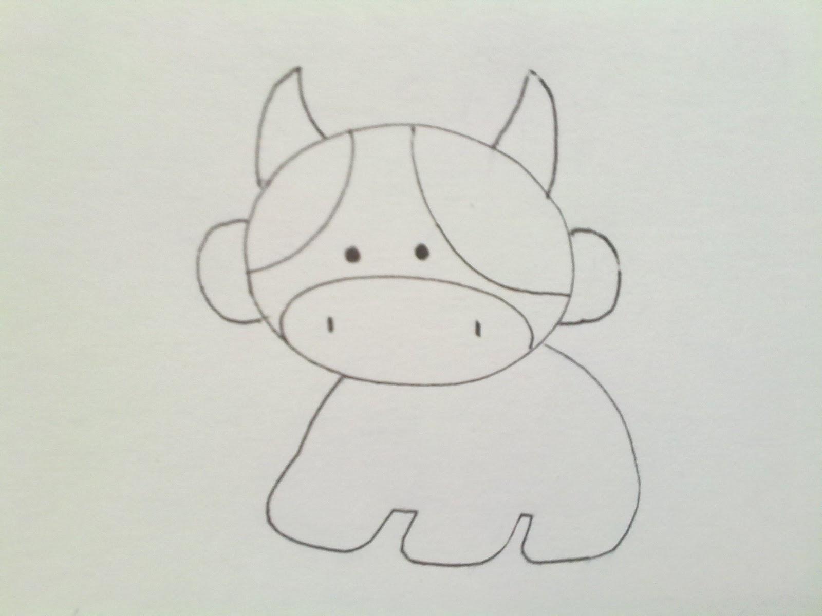 Kreasi Unik Cara Membuat Boneka Flanel Sapi  Cow