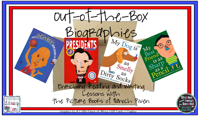 "Students will enjoy reading the collage-style books of Hanoch Piven and using the Faces iMake iPad app to create their own ""out-of-the-box"" biography projects!"