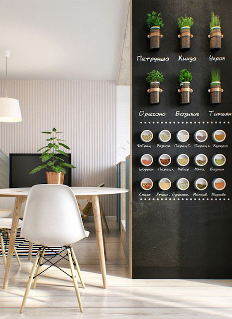 magnetic spice rack on wall