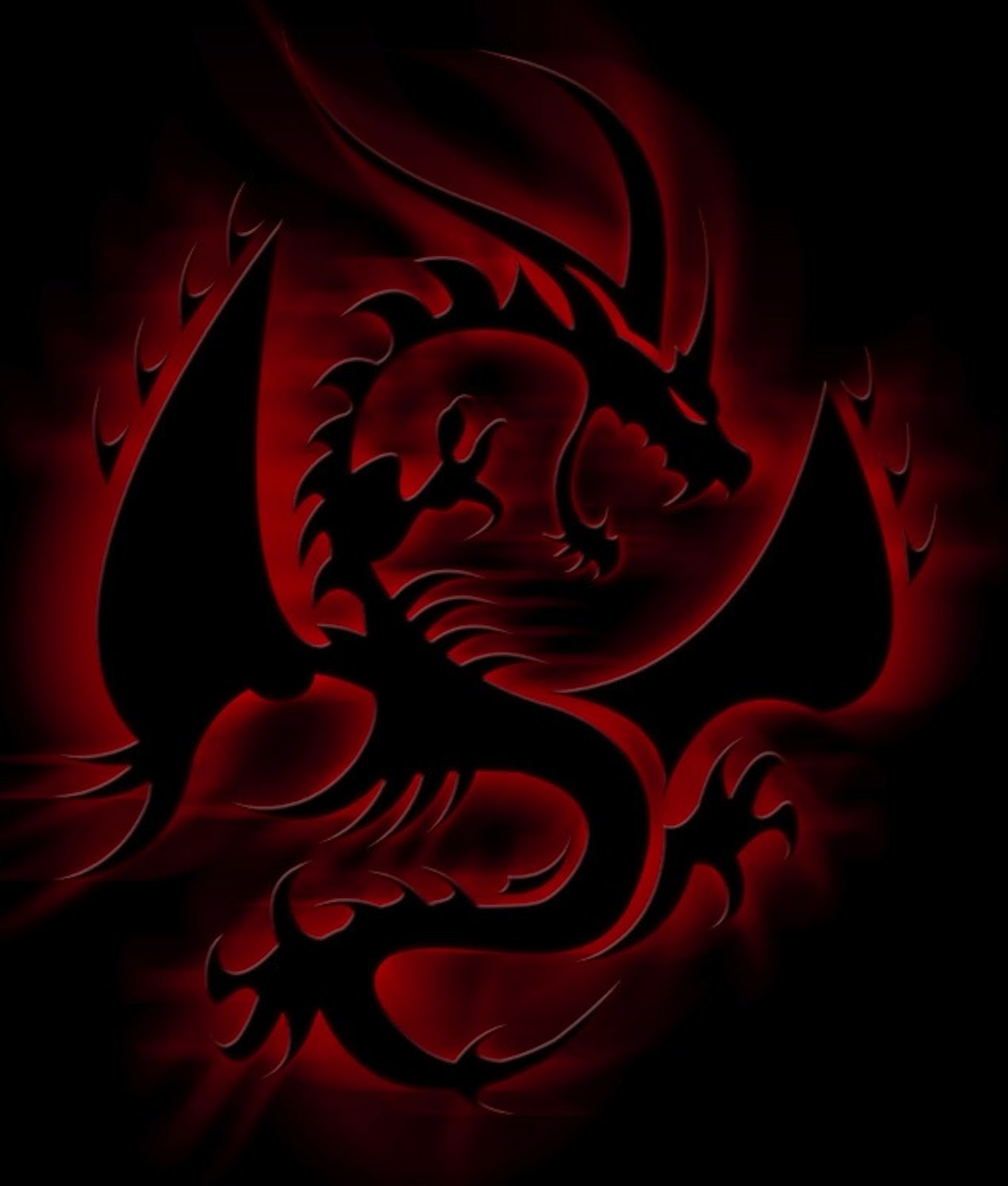 Red And Black Dragon Wallpaper Pictures to Pin on ...