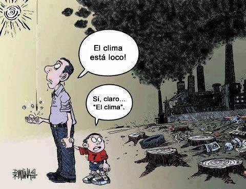 Resultado de imagen para cambio climático caricatura