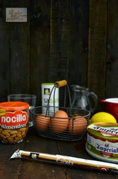 como preparar buñuelos-nocilla-almendras