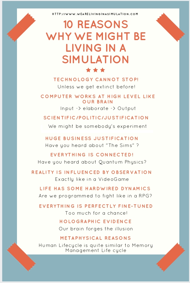 10 Reasons why we might be living in a simulation