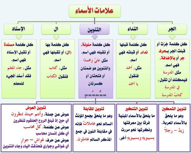 """انفراد.... كل قواعد اللغة العربية لطلاب """"ابتدائي - اعدادي - ثانوي"""" في صورة لوحات مبسطة مع الشرح والتدريبات 4"""