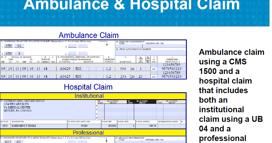 ambulance billing guide codes and services ambulance billing modifiers and sample ambulance claim