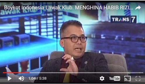 Pendukung Rizieq Shihab Serukan Boikot Indonesia Lawak Klub