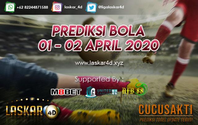 PREDIKSI BOLA JITU TANGGAL 01 – 02 APRIL 2020