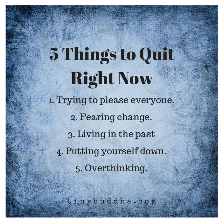 5 things to quit right now image