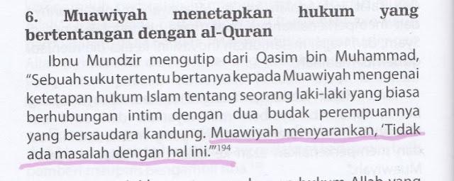 Syiah Menuduh Muawiyah Menetapkan Hukum yang Bertentangan dengan Al Quran