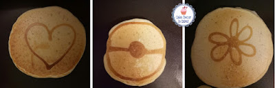 Love Heart Pokemon Pokeball and Flower Themed Breakfast Brunch Pancakes