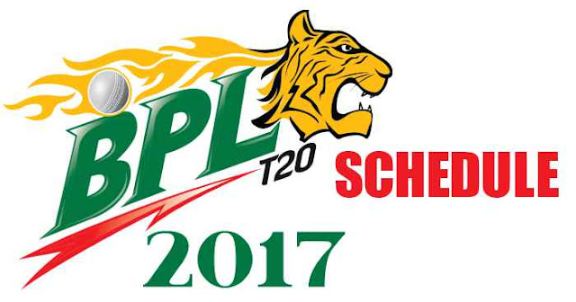 BPL 2017 Schedule, Fixtures and Timetable