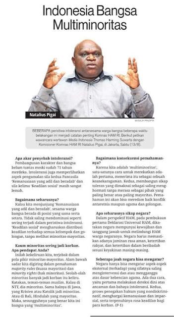 Indonesia Bangsa Multi Minoritas, dari Ambang Nadir ke Panggung Sandiwara