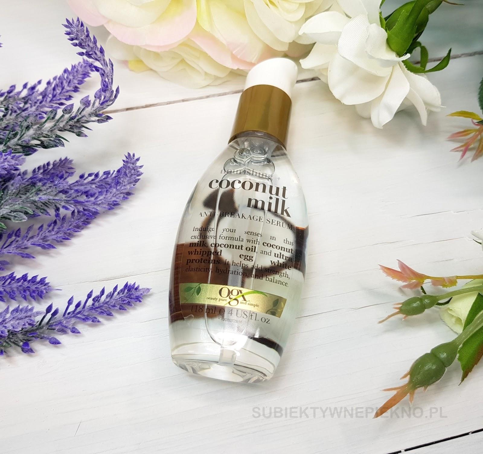 Organix Coconut Milk - wzmacniające serum do włosów OGX