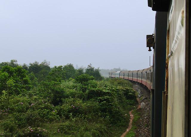 À bord d'un train au Vietnam