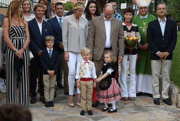 Prince Albert, Princess Charlene, Crown Prince Jacques and Princess Gabriella attended the traditional Monaco's picnic