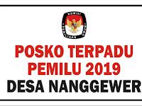 Download Contoh Sekretariat Posko Terpadu Pemilu 2019 Format CDR