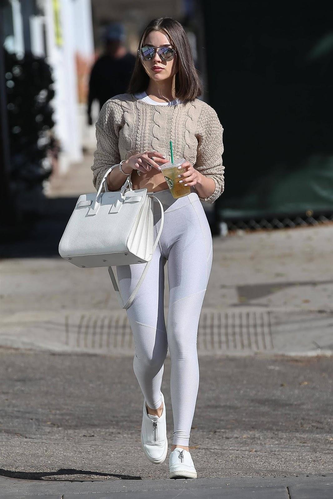 Olivia Culpo in Tights