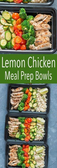 Lemon Chicken with Cilantro Brown Rice