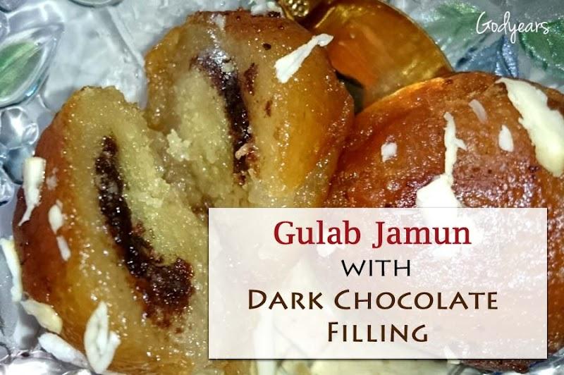 Recipe - Gulab Jamun with Dark Chocolate Filling