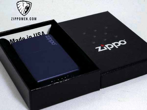 Zippo Xanh Tím Than - MS09 | Zippo Cổ | Zippo Store | Zippo Men