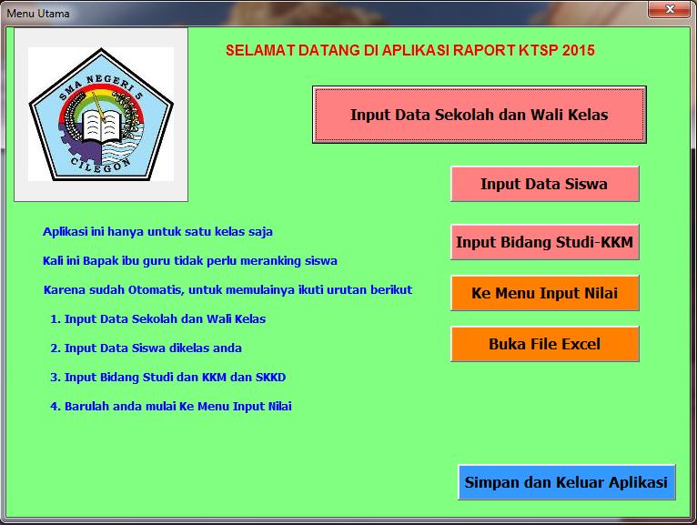 Aplikasi Raport Sma Berbasis Ktsp Revisi Guru