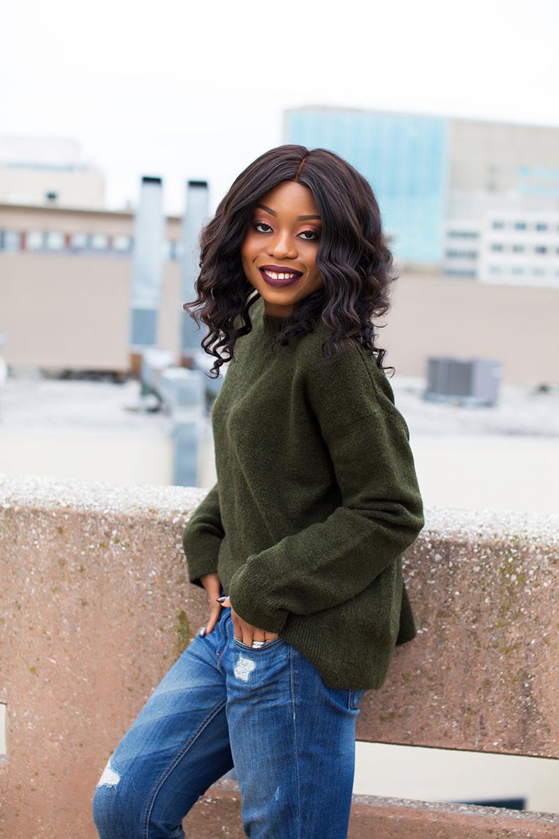 chunky cable knit sweater, boyfriend jeans, malone souliers www.jadore-fashion.com