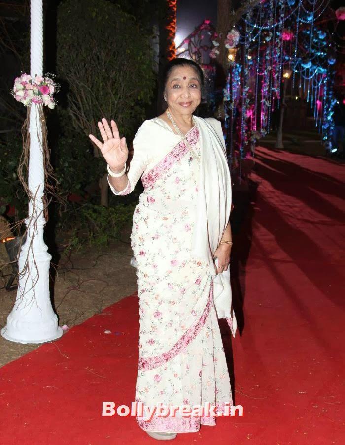 Asha Bhosle, Ahana Deol Wedding & Reception Pics