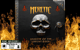 Heretic Shadow of the Serpent Riders title screen