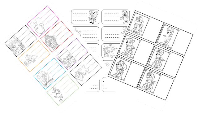 etiquetas, libros, printables, imprimibles, manualidades, infantil, Timejust