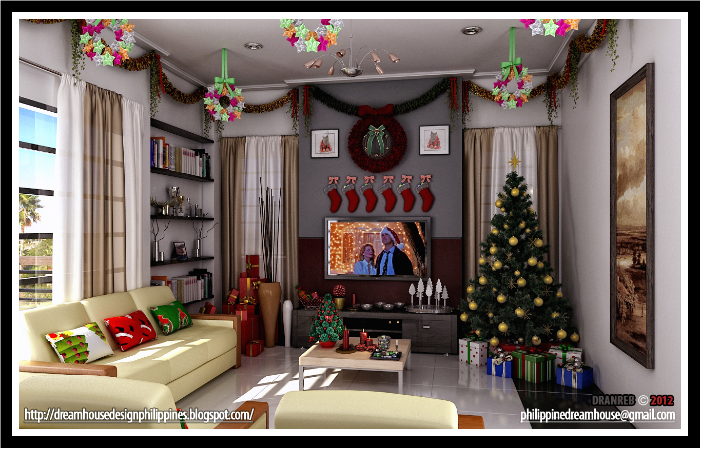 Dream House Design Philippines: Living room Christmas decoration