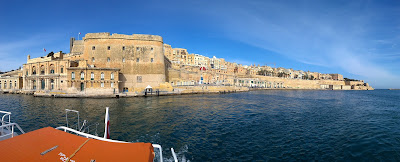 View of La Valletta from the Grand Harbor.
